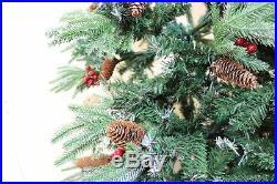 Xmas Christmas Tree 6ft 180 CM Ontario Spruce PE Flocked 609 Tips Snow Luxury