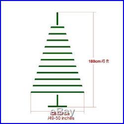 Xmas Tree 6 Feet Flocked Snow Trees Pine Cone Unlit Artificial Christmas Tree
