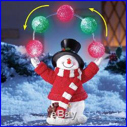 Yard Christmas Lighted Snowman Decoration Outdoor Xmas Lighting Solar Ornaments